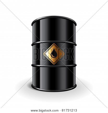 Oil Barrel Isolated On White Vector