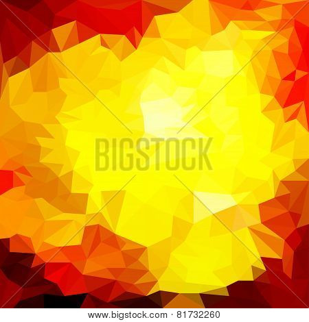 Abstract Triangle Polygonal Geometric Background For Use In Design