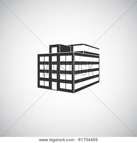 Abstract Architecture Building Silhouette Logo Design Template. Skyscraper Real Estate Business