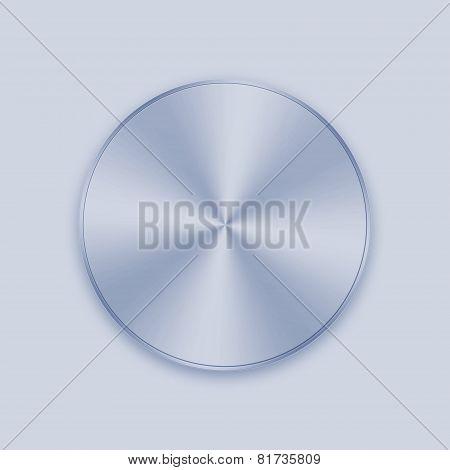Light Blue Metal Knob Button