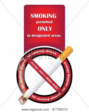 Don't smoke label