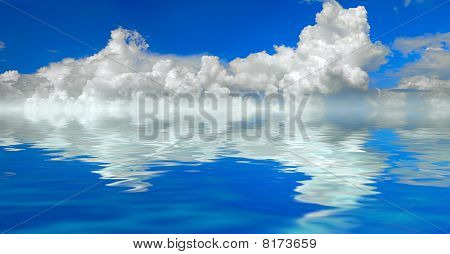 Clouds And Water Background