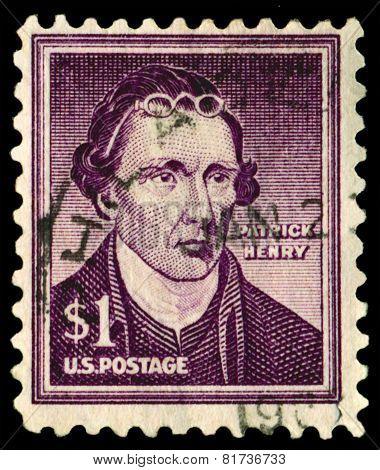 Vintage Postage Stamp. Patrick Henry