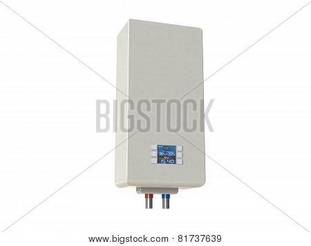 Electric Water Heater Tank; isolated on white