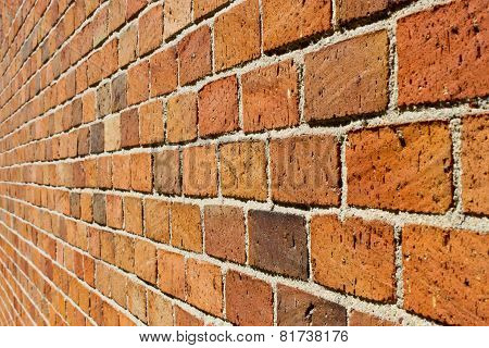 Perspective Of A Brick Wall
