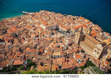 Top View Of Cefalu Old Town