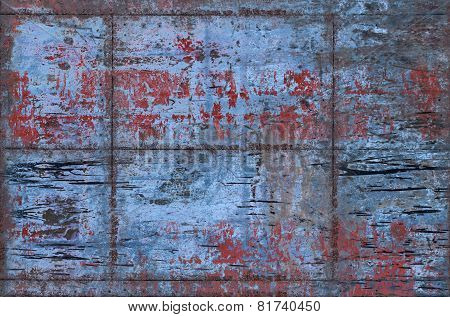 Grungy Metal Background With Seams