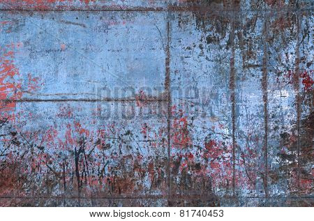 Old Grungy Metal Texture With Seams