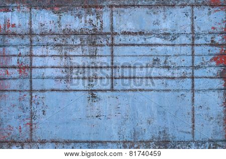 Old Blue Metal Texture With Seams