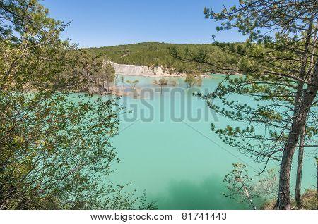 Mediano Reservoir At Huesca, Spain