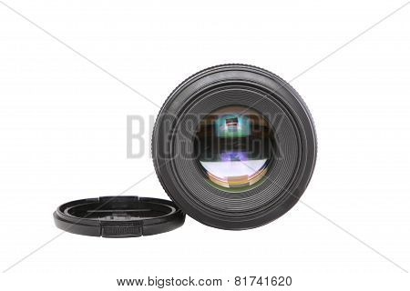 Ojective(lens Glass) Isolated Ion White.