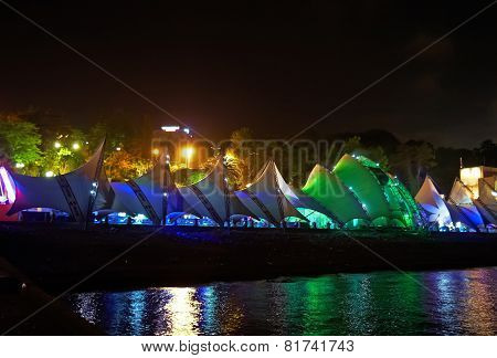 Night Kind Of Seafront In Sochi City