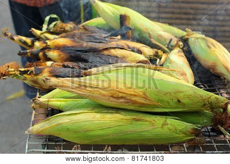 Roasted Barbecue Corn - Grilled Corn