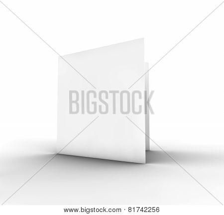 Blank Bifold Paper Brochure