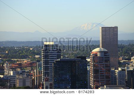 Mt. St. Helens & skyline Portland OR.