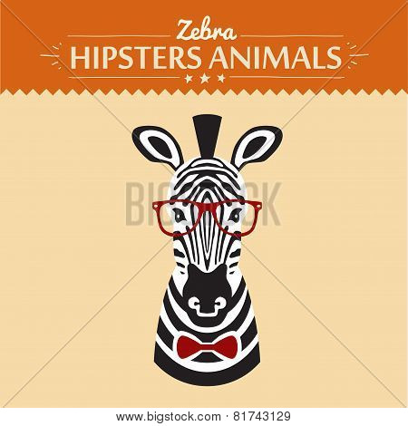 illustration of zebra gentleman with flowers, greeting card design