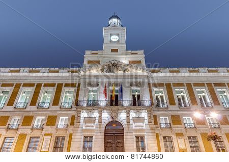 Real Casa De Correos Building In Madrid, Spain.