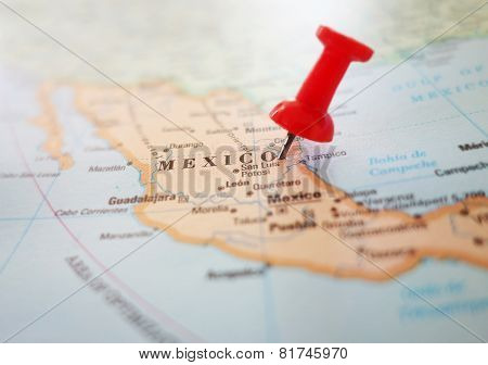 Mexico Map Pin