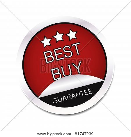 Best buy guarantee vector icon on a white background