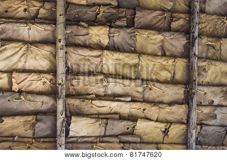 Backgrounds of dry leaves