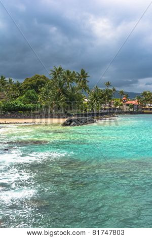The beach of Kailua Kona, Hawaii