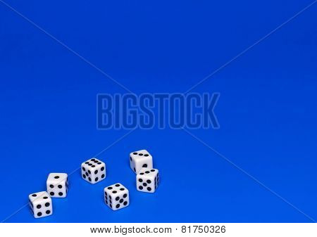 The Dices On Blue.