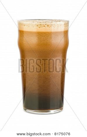 Just poured stout beer