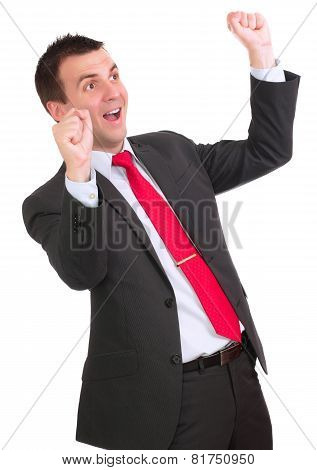 Businessman-feeling A Great Happy . Isolated
