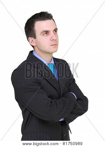 Caucasian Businessman With Crossed Arms.