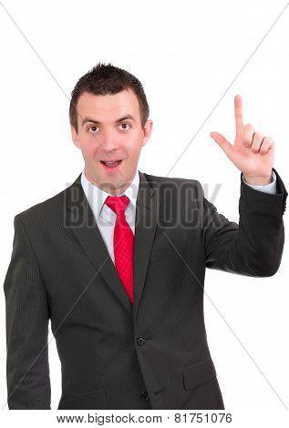 Cheerful Businessman Show