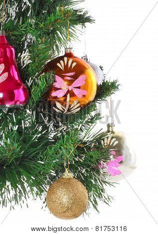 Fragment Of Christmas And New Year Decoration.