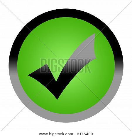 Green Tick Check Mark Button