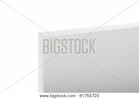 Single Styrofoam Panel Isolated