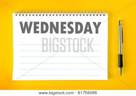 Wednesday Calendar Schedule Blank Page
