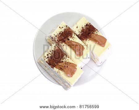 Sponge Cakes With  . Isolated