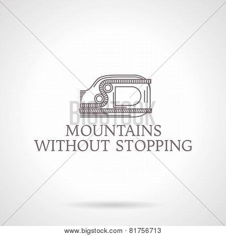 Abstract vector illustration of ascender icon with text