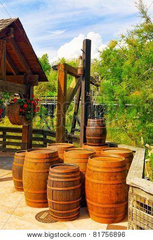 Wwine barrels.