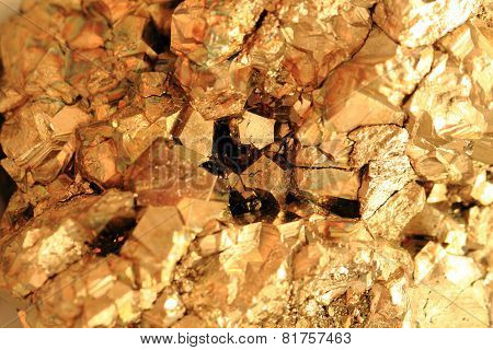 Abstract Gold Mineral Background