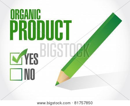 Yes To Organic Products Check List Illustration