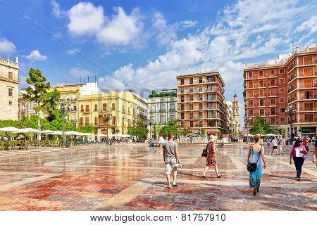 VALENCIA, SPAIN - SEPT 10: Cityscape of Valencia. September 10, 2014 in Valencia