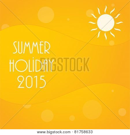 Abstract Yellow Summer Background, Vector Illustration, Eps10