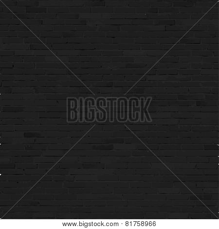Brick wall background, black relief texture with shadow