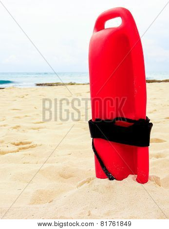 Red Lifeguard Tube