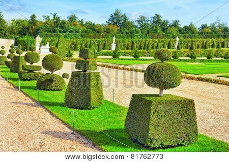 Versailles France - September 21 Beautiful Garden  Versailles, France On September 21, 2013. Palace