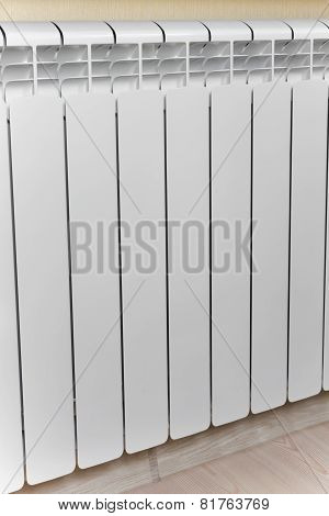 Heating White Radiator Radiator.