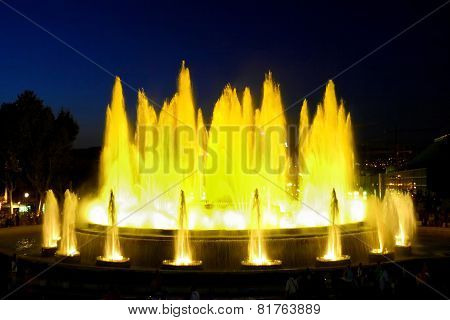 Fountain In Barcelona.spain.