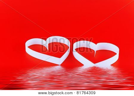 St. Valentine Day. Two Hearts