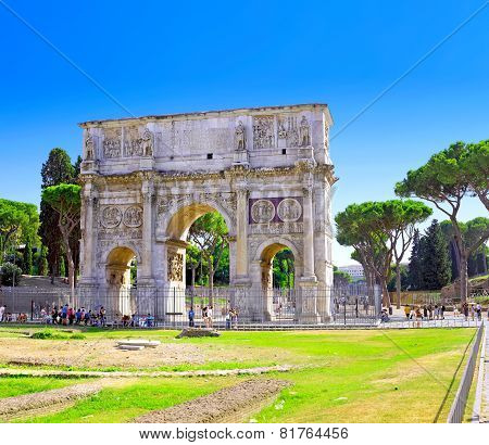 Arch Of Constantine  Rome, Italy.