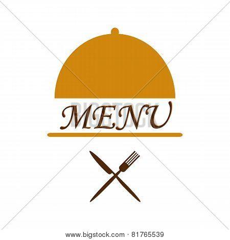 Menu Text In Cloche With Flatware Beneath