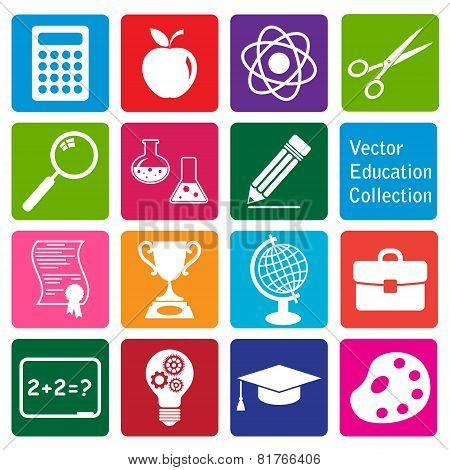 vector collection: set of education icons